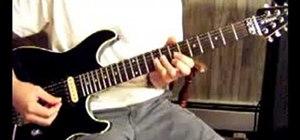 "Play ""Armageddon It"" by Def Leppard on guitar"