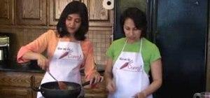 Prepare Indian suji upma with semolina