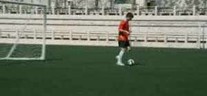Do a Nike Go Long soccer drill w/ Klaas Jan Huntelaar
