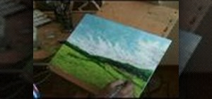 Paint a landscape in acrylic