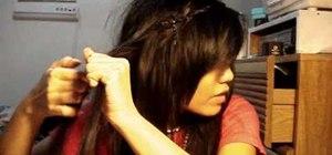 Create a hippie bohemian braided headband