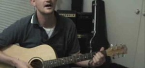 "Play ""Last Kiss"" by Pearl Jam on acoustic guitar"