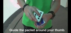 "Perform the ""entangled"" display card flourish cut"