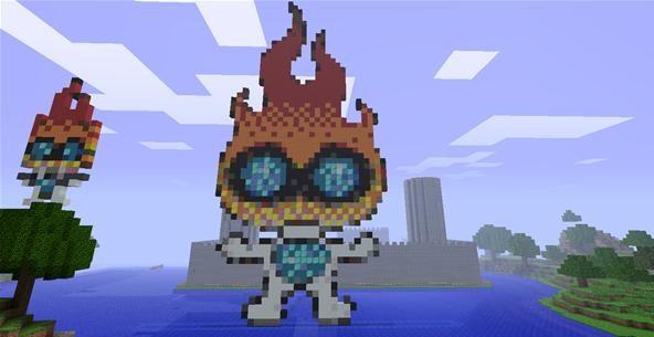 Minecraft Challenge: Wonderhowto MASCOT in MC