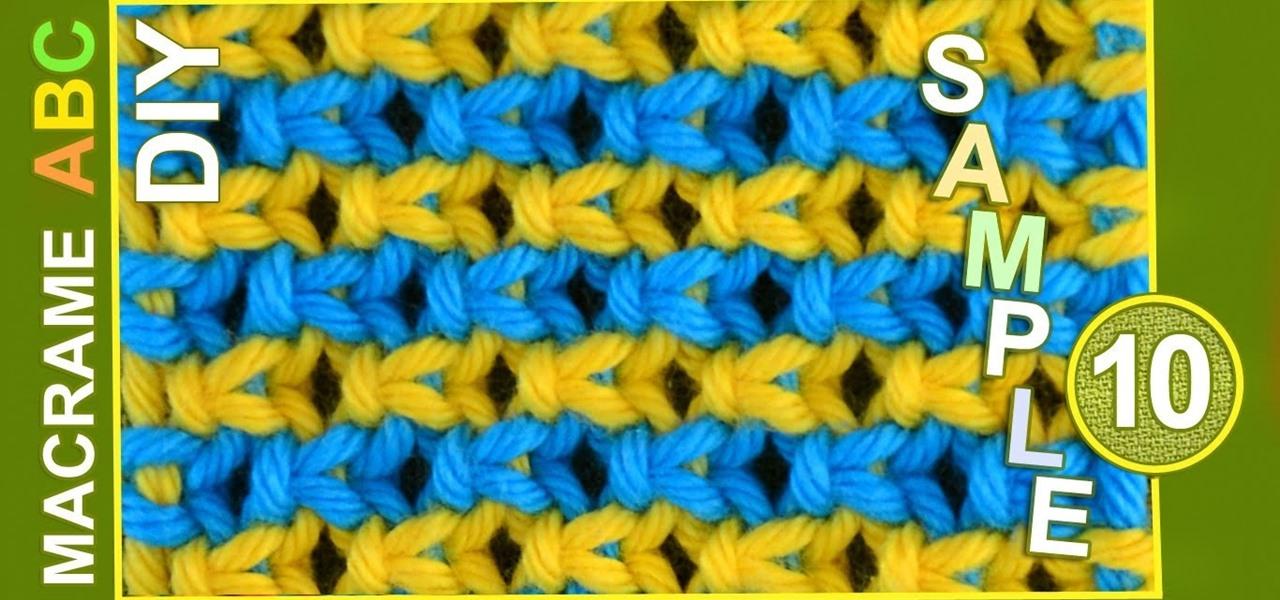 Macrame ABC - Pattern Sample #10