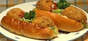 Make korokke pan (croquette bun)