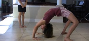 Complete a front walkover for cheerleading, dance, and gymnastics