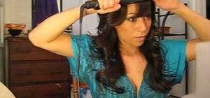 Get a curled polished style like Kim Kardashian
