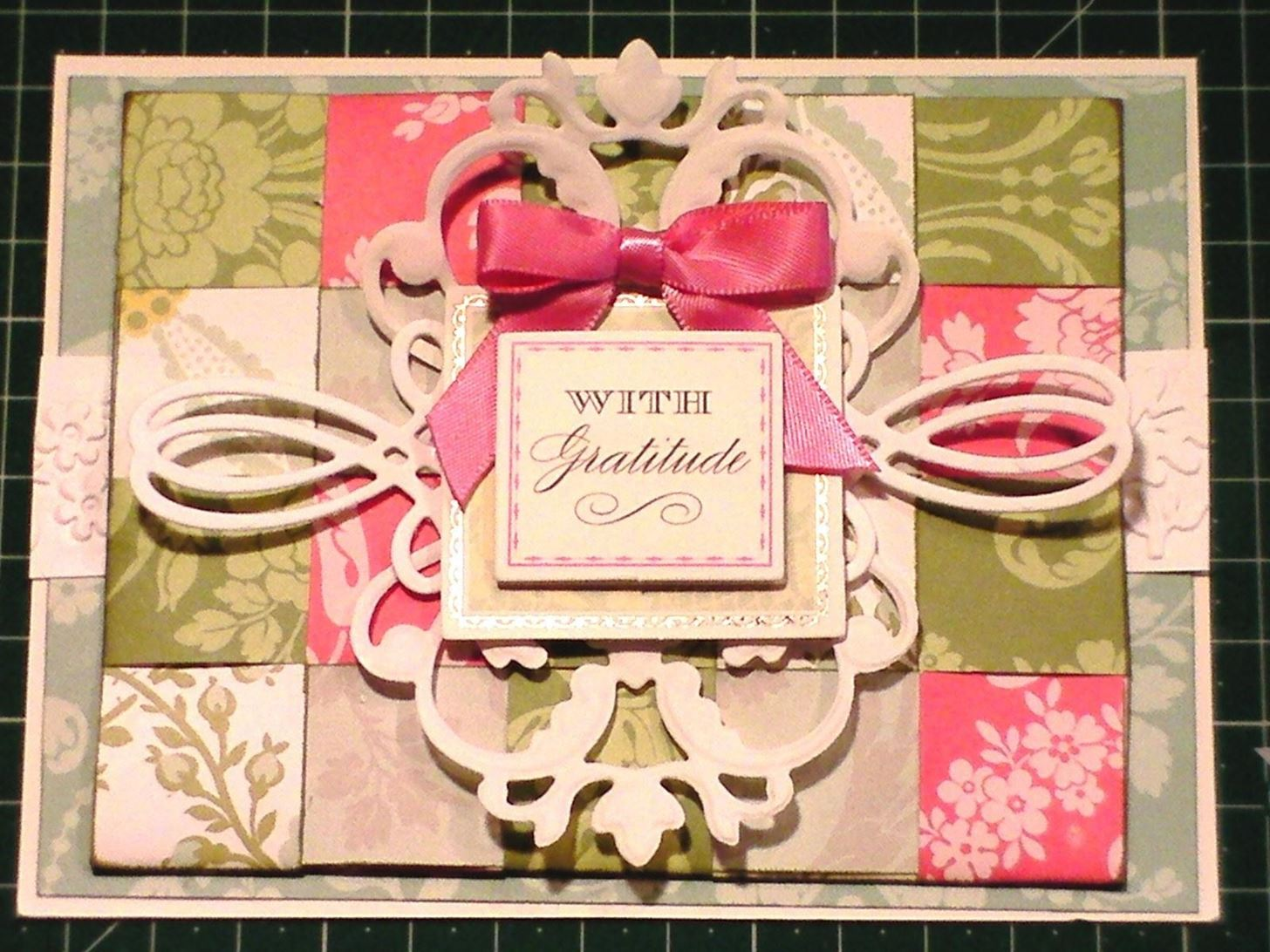 How to Make Paper Weaved French Floral Card