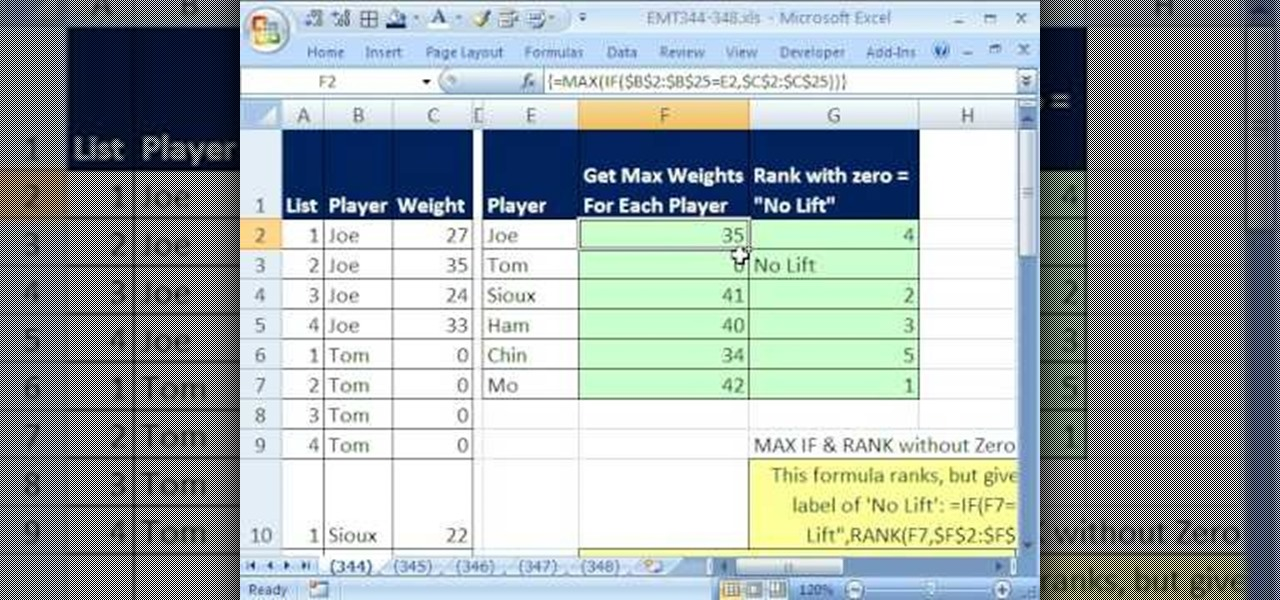 how to find 95th percentile in excel