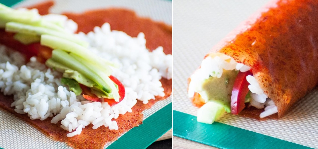 Make Sushi with Sriracha Instead of Seaweed