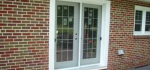 Install patio doors in a brick wall
