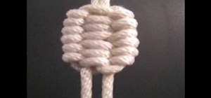 Tie the Trilobite decorative knot
