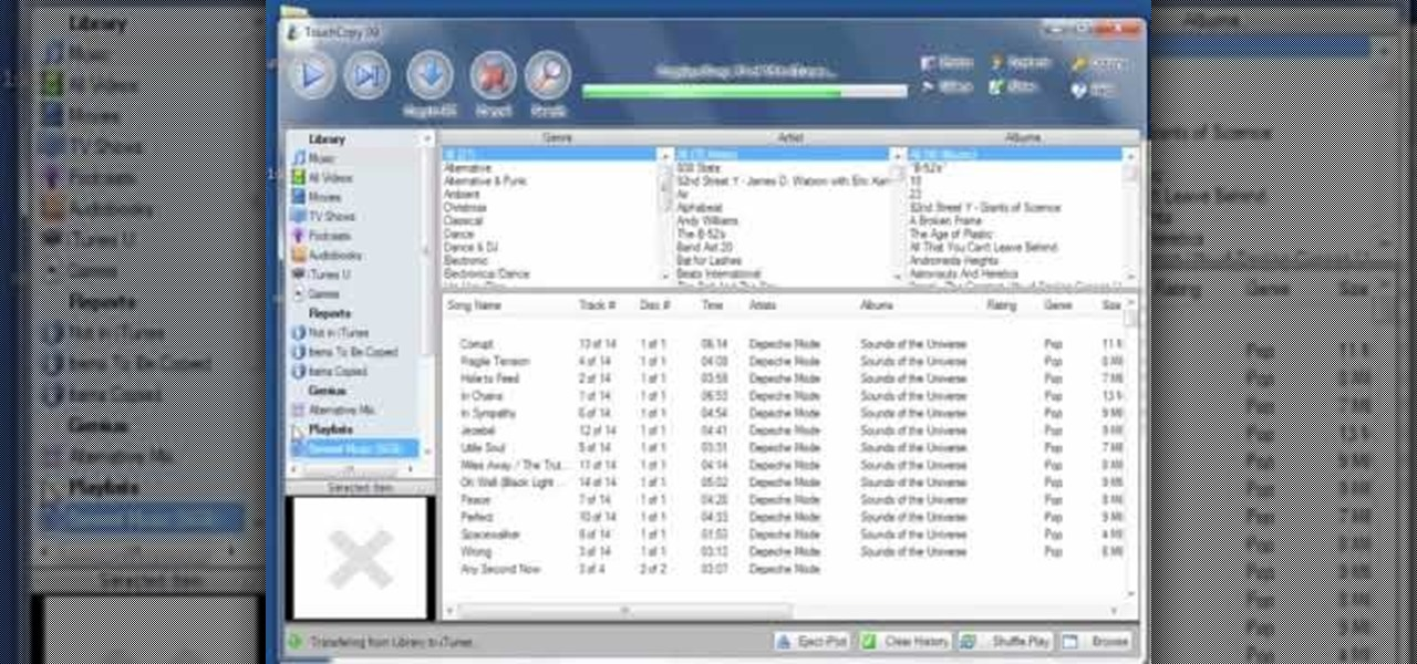 How to Transfer music from an iPod to iTunes with TouchCopy