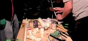 Make a compressed air rocket launcher