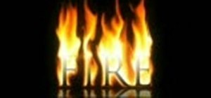 Create a flaming text effect in Photoshop