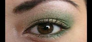 Create a timeless gold and green eyeshadow look