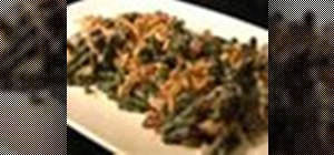 Make tasty green bean casserole