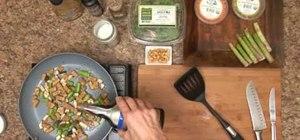 Make vegetarian tempeh & shiitake mushroom stir-fry