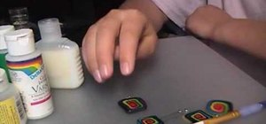 Gloss your polymer clay pendant jewelry