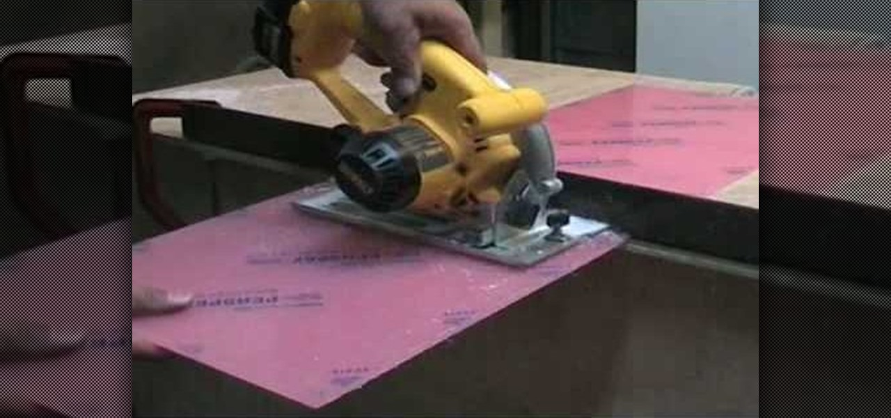 How To Cut Perspex Or Acrylic Sheet With A Circular Jigsaw Construction Repair Wonderhowto