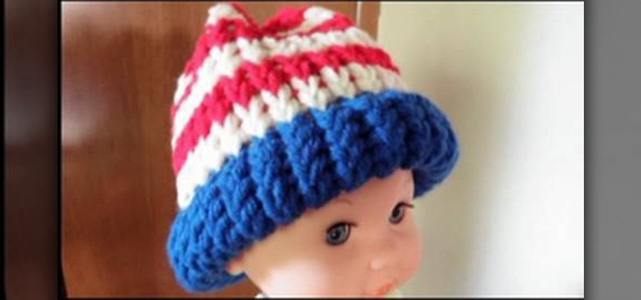 How to Knit a Fourth of July American flag baby hat « Knitting   Crochet     WonderHowTo 0be67a53b60d