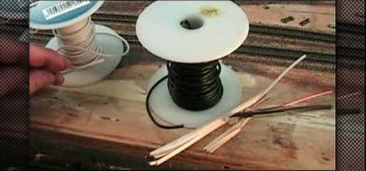 how to wire your model railroad track  model cars rockets trains