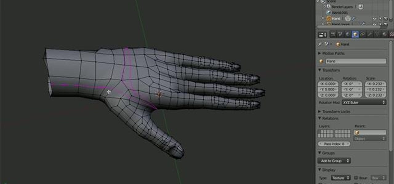 How to Model a human hand in Blender 3D « Software Tips