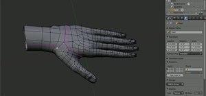 Model a human hand in Blender 3D