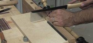 Make ebony plugs when woodworking