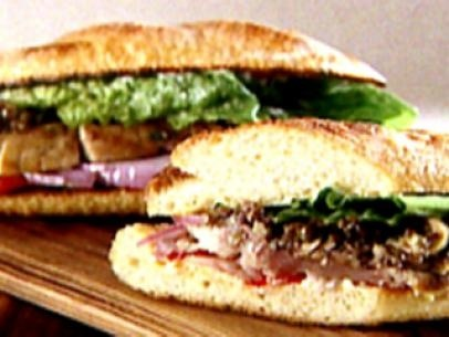 Savory Tuna Burgers Recipe : Robin Miller : Food Network