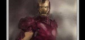 Draw the comic book character Iron Man