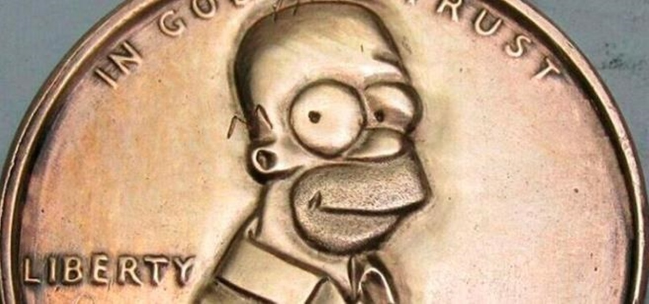 Artist Turns a Penny into $207 by Morphing Lincoln into Homer Simpson