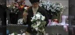 Make a cascading bouquet