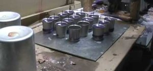 Make a votive candle holder by hand