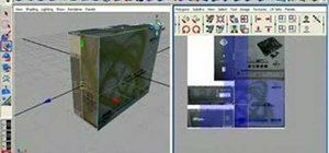 UV map a motherboard box in Maya