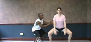 Do a perfect plié squat to tone leg muscles and burn fat