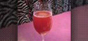 Make a raspberry champagne cocktail