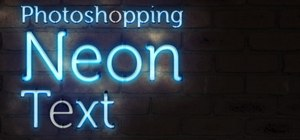 Photoshop neon text