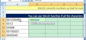 Extract characters without leading zeroes in MS Excel
