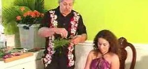Create a sweet pea & rose halo for a wedding or luau