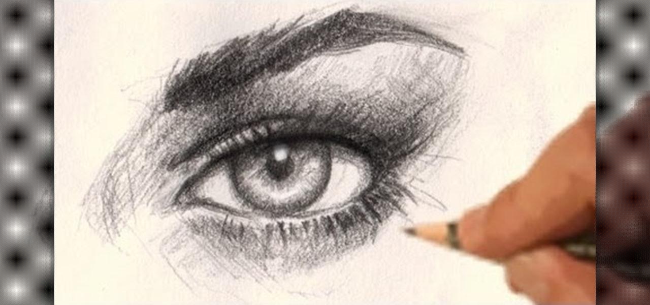 How to draw a realistic female eye drawing illustration wonderhowto