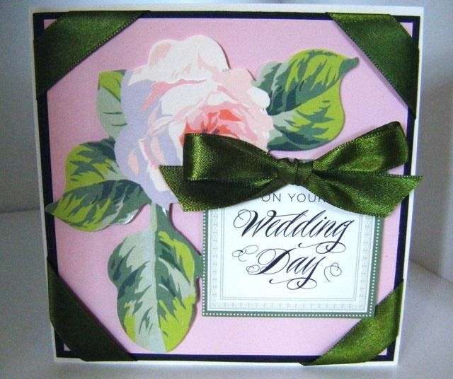 How to Make a Vintage Collage Wedding Rose Card