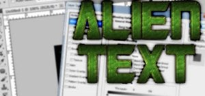 Create an alien text effect in Adobe Photoshop CS4 or CS5