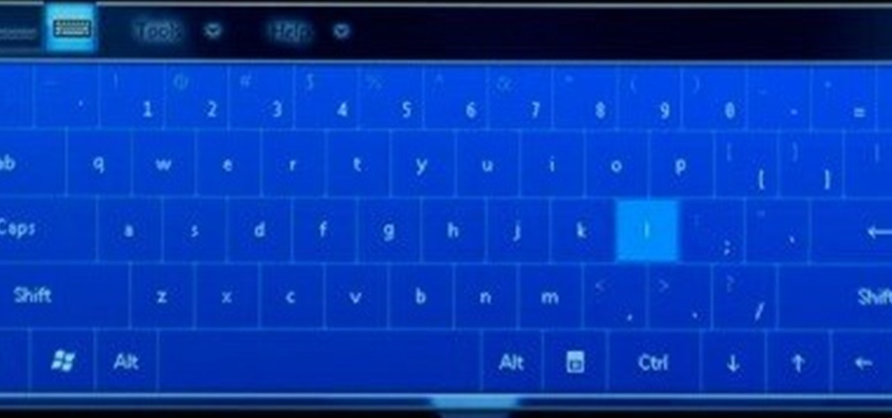 How to Use the onscreen keyboard on the HP TouchSmart