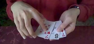 Perform the different color Monte card trick