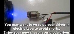 Подключение лазерного диода.