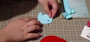 "Craft a ""Hugs and Kisses"" chubby bird card"