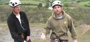 Abseil (decend) in rock climbing