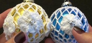 Make a holiday lace ornament with thread crochet